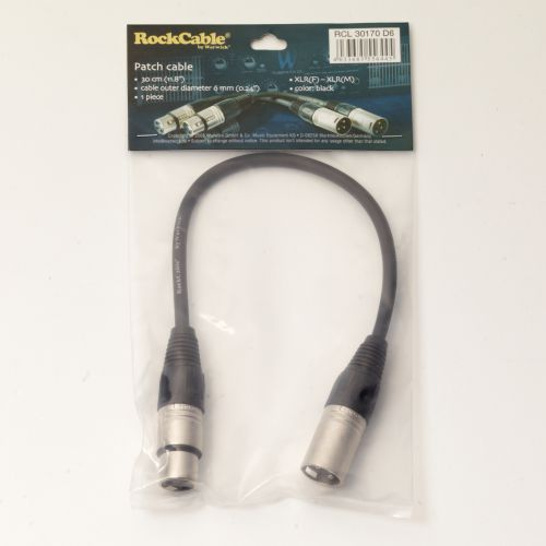 RockCable Patch Cable - XLR (male) to XLR (female) - 30 cm