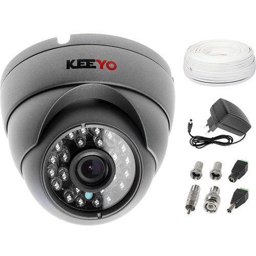 Keeyo Zestaw do monitoringu kamera lv-al25hd zasilacz przewód akcesoria