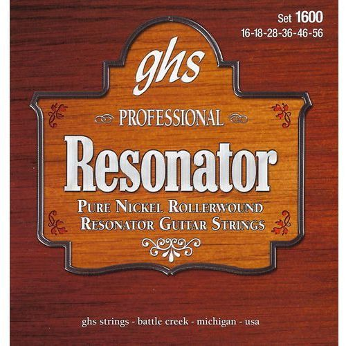 professional - resonator string string set, nickel, semi flat,.016-.056 marki Ghs