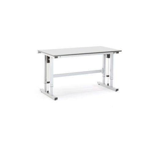 Elektrycznie regulowany stół roboczy motion obciążenie 400 kg 1500x800 mm szary marki Aj