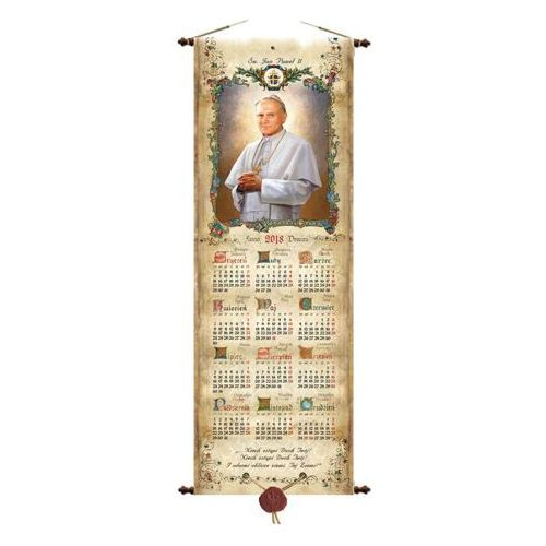 kalendarz typu zwój Jan Paweł II, KAL/JAG/SDP