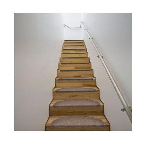 Dywaniki na schody 64,5 x 25,5 cm Brąz x15 - oferta [05c04f77b7655499]