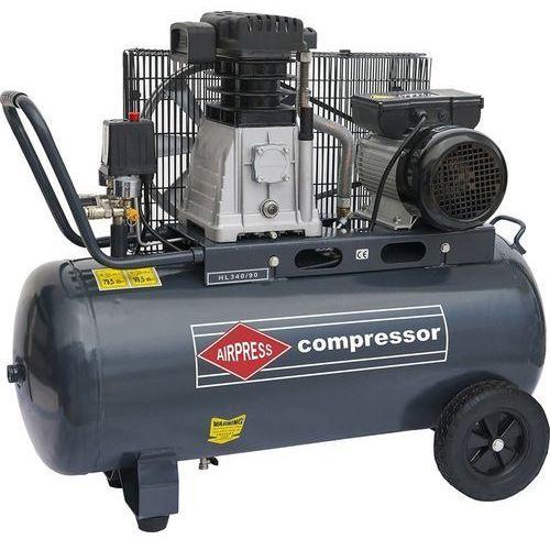 42111 sprężarka tłokowa hl 340-90 230v (wydajność: 340 l/min, zbiornik: 90 l), marki 002