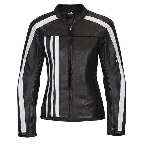Damska skórzana kurtka motocyklowa nf-1173, czarno-biały, xs marki W-tec