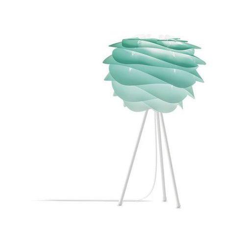 Vita Carmina - lampa stojąca tie&dye turkusowy śr.32cm statyw biały 37cm