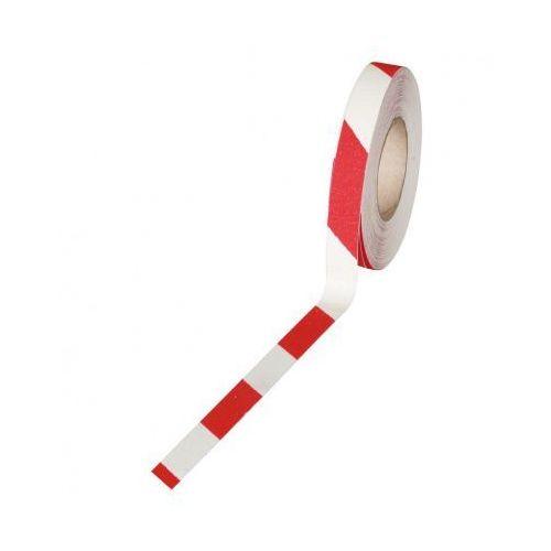 Heskins Taśma antypoślizgowa - drobne ziarno 25 mm x 18,3 m, biało-czerwona