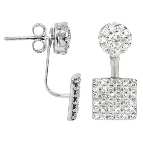 Jwl luxury pearls elegancki srebrny dvojnáušnice cyrkon jl0198 srebro 925/1000 (2376872747175)