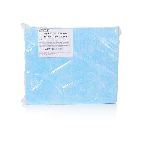 1fb38c7a19df1 JEDNORAZOWE CHUSTY-MYJKI ZABIEGOWE 100 SZT. SOFT&SCRUB 20X25CM 29,99 zł  nowoczesna włóknina, myjki z jednej strony pokryte są warstwą scrub (jasno  niebieski ...