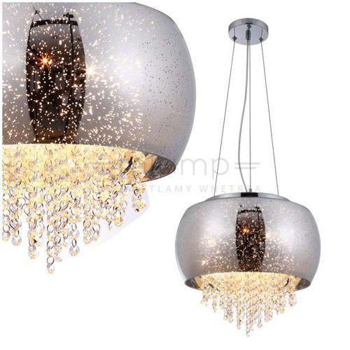 LAMPA wisząca DELTA 241 Milagro szklana OPRAWA glamour ZWIS z kryształkami galaktyka crystal przezroczysty