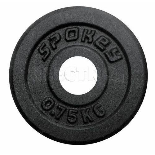 Obciążenie żeliwne SPOKEY Sinis 0.75 kg 84417 + Odbiór w 650 punktach Stacji z paczką! (gryf, sztanga) od ELECTRO.pl