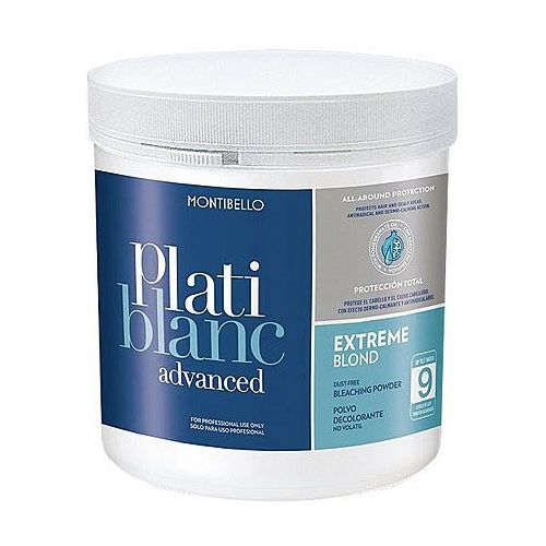Montibello Platiblanc Advanced Extreme Blond Level 9, rozjaśniacz bezpyłowy 500g (8429525418893)