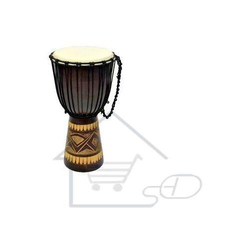 Djembe - indonezyjski bęben - wys. 50cm - śred. 22 cm - rzeźbiony