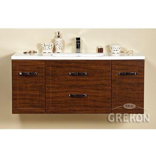 Szafka łazienkowa wisząca z umywalką 120/46/c seria meiva d marki Gante