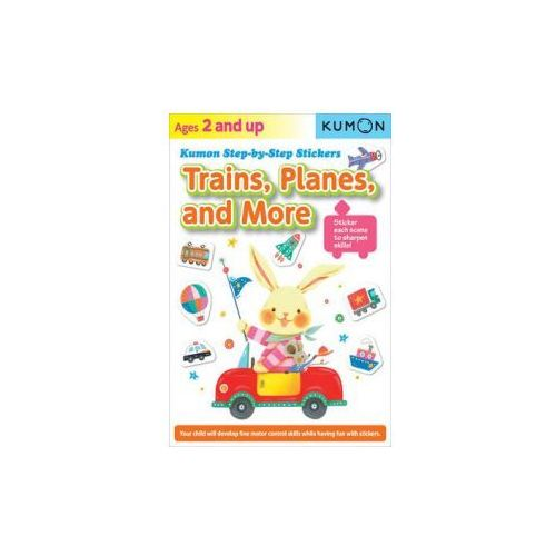 Kumon Step-by-step Stickers: Trains, Planes, And More (9781935800880)