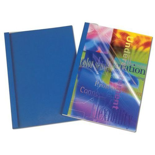 Okładki do termobindowania skóropodobne prestige - niebieskie - 1.5mm - 100szt. marki Fellowes