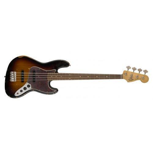 road worn ′60s jazz bass, pau ferro fingerboard, 3-color sunburst gitara basowa marki Fender