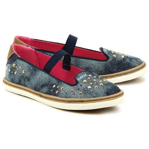 Junior Kiwi - Niebieskie Canvasowe Baleriny Dziecięce - J42D5B 00013 C4005 ze sklepu MIVO Shoes Shop On-line