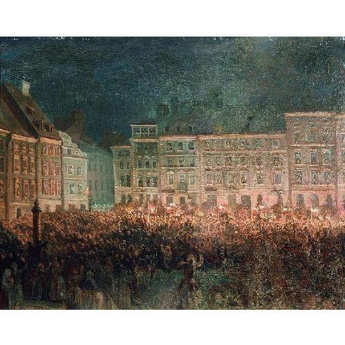 obraz Manifestacja patriotyczna na Rynku Starego Miasta - Aleksander Lesser (obraz)