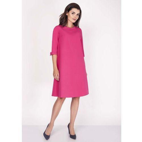 3e1b4ca5b2 Różowa Sukienka Trapezowa Mini z Uroczymi Kokardkami