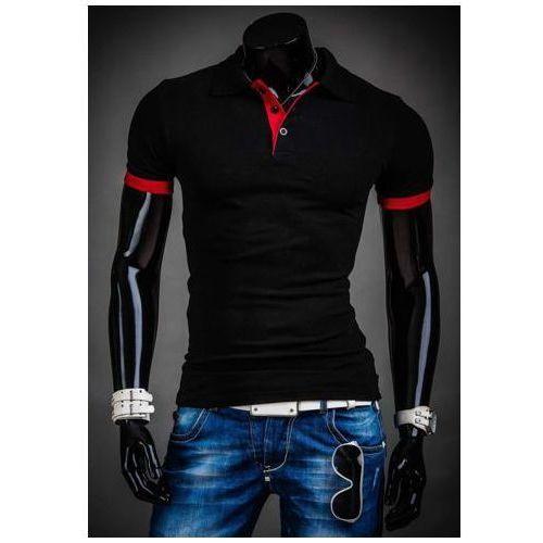 bb4a8f511 Koszulka polo męska czarna Bolf 171222A, kolor czarny 49,99 zł klasyczne,  czarne koszulki polo męskie Denley. Bawełniane, mają kołnierzyk na 3  guziki, ...