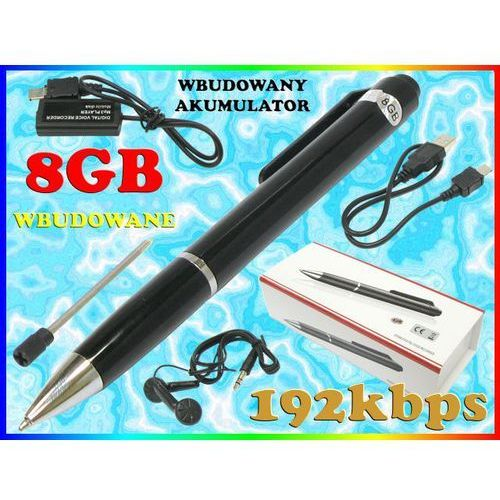 MINI DYKTAFON CYFROWY 192kbps W DŁUGOPISIE PAMIĘĆ 8GB + SŁUCHAWKI, marki Sklep Easy-WiFi do zakupu w Sklep Easy-WiFi