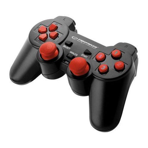 Esperanza gamepad pc usb warrior czarno/czerwony (5901299946930)