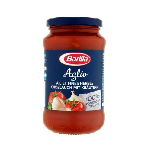 Barilla 400g aglio sos pomidorowy z czosnkiem, czerwonym winem i ziołami do makaronu