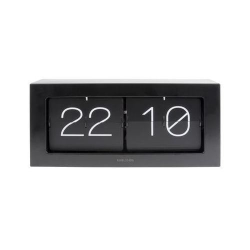 Zegar stołowo/ścienny Flip Clock Boxed XL black by Karlsson, kolor czarny