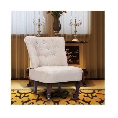Fotel francuski, kremowy - produkt z kategorii- fotele