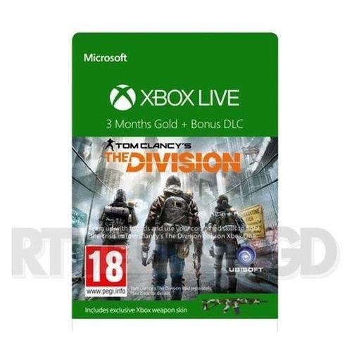 Subskrypcja xbox live gold the division (3 m-ce) - produkt w magazynie - szybka wysyłka! marki Microsoft