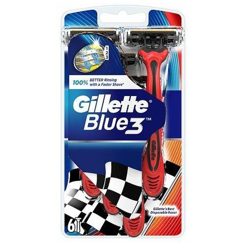 Gillette Blue3 Jednorazowe Maszynki Do Golenia Dla Mężczyzn, 6 sztuk (7702018076161)