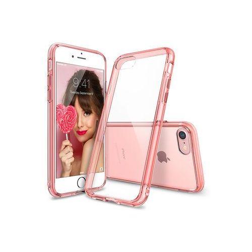 Apple iPhone 8 - etui na telefon Ringke Fusion - różowy, kolor różowy