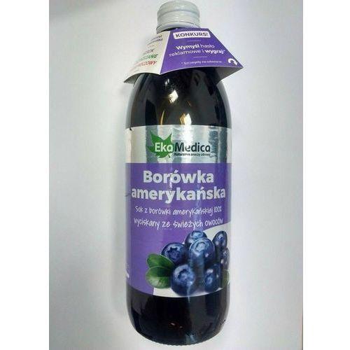 Ekamedica Sok z borówki amerykańskiej 100 % (500 ml)
