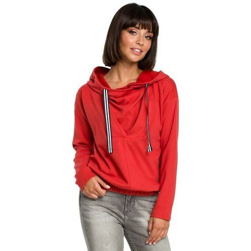 Bluza damska z kapturem czerwona sprawdź!