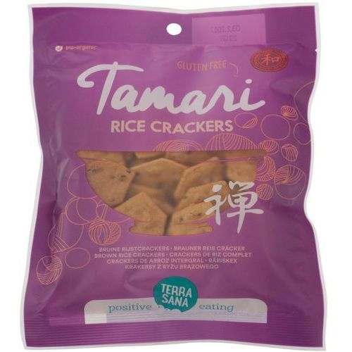 Terrasana (ml. kokos, masła orz., syr. klon. inne) Krakersy z ryżu brązowego tamari bio 60 g - terrasana (8713576275025)