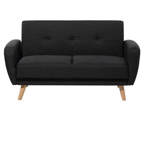 Sofa tapicerowana dwuosobowa czarna rozkładana FLORLI (4260602375814)