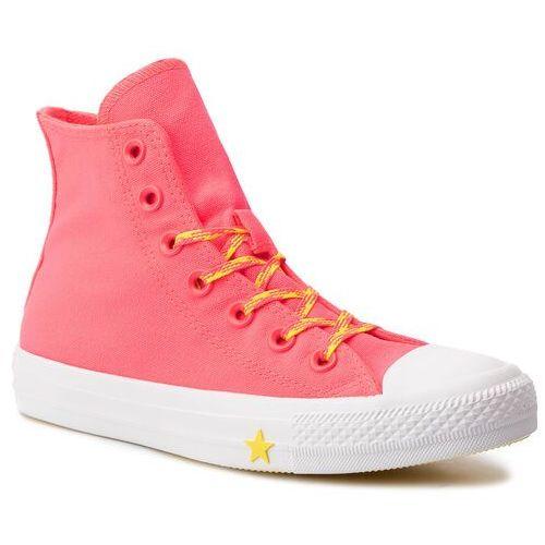 Trampki CONVERSE - Ctas Hi 564122C Racer Pink/Fresh Yelow/White, w 9 rozmiarach