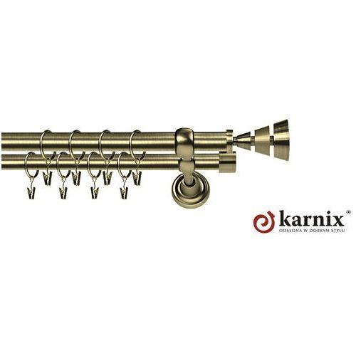 Karnix Karnisz metalowy rzymski podwójny 16/16mm imperia antyk mosiądz