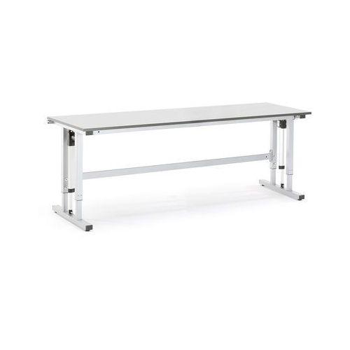 Elektrycznie regulowany stół roboczy MOTION obciążenie 400 kg 2500x800 mm szary