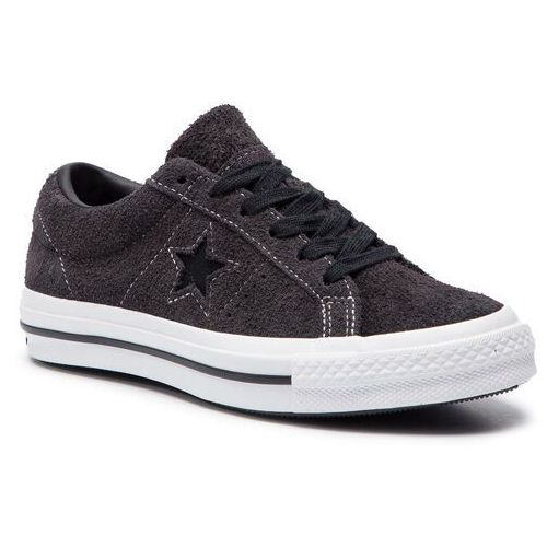 Converse Tenisówki - one star ox c163247 almost black/black/white