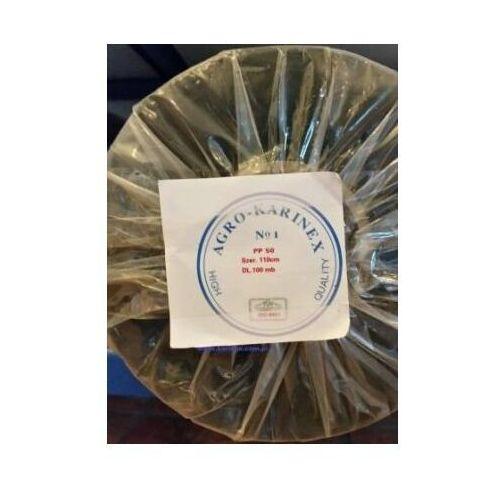 Agrowółknina ściółkujaca PP 50 g/m2 czarna 1,1 x 100 mb. Rolka o wadze 8,6 kg.