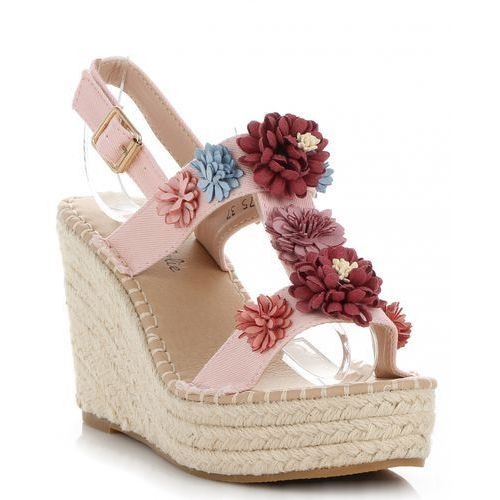 4b147456bdf8c Lady glory Oryginalne buty damskie koturny z kwiatami renomowanej marki  pudrowy róż (kolory) 109,00 zł Jesteś fanką damskiego stylu?