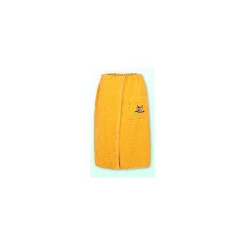 Sauna kilt ręcznik zółty 100% bawełna uniwersalny 70*140 z logo, Produkcja własna