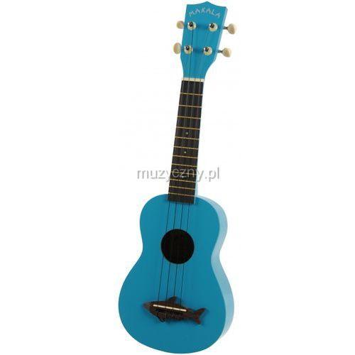 Kala makala shark ss-blu ukulele sopranowe, niebieskie