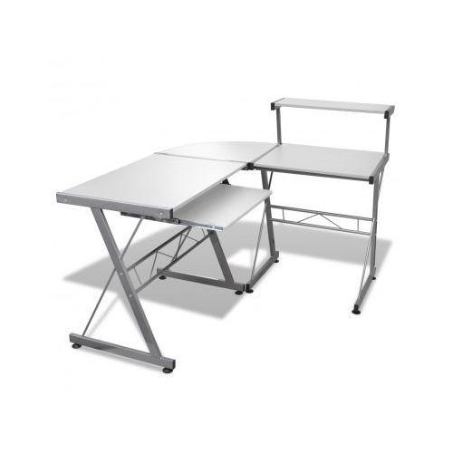 Biurko komputerowe, rogowe, białe - sprawdź w VidaXL