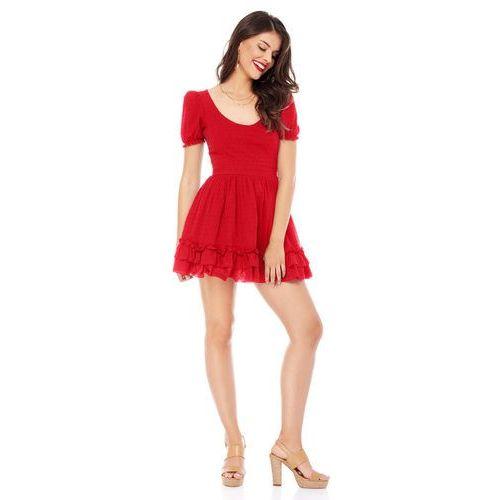 Sukienka bali w kolorze czerwonym marki Sugarfree