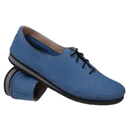 Simen Mokasyny sznurowane buty 6870 niebieskie - niebieski