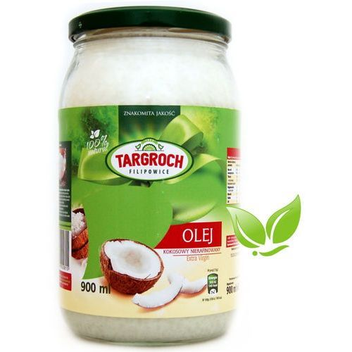 Olej kokosowy nierafinowany 100% naturalny 900ml, 5903229002815