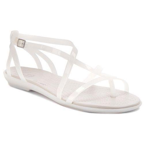 Japonki CROCS - Isabella Gladiator Sandal W 204914 Oyster/Pearl White, kolor biały