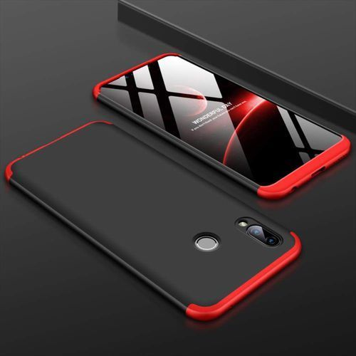 GKK 360 Protection Case etui na całą obudowę przód + tył Huawei Honor Play czarno-czerwony (7426825355638)